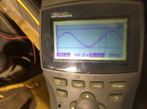 Oscilloskop-mätning med riktig sensor