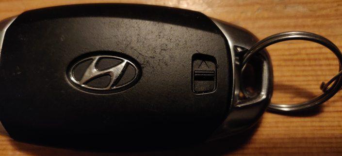 Bild 2 Spärr för mekanisk nyckel Hyundai i30 2018